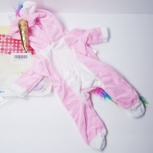 """Unicorn Costume Outfit for 18"""" Dolls"""